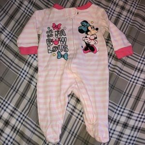 Disney Oh So Fabowlous Minnie Mouse Footed pajama